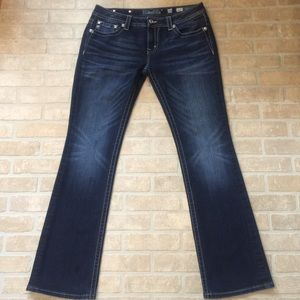 Miss Me New Without Tags Bling Dark Boot Cut Jeans
